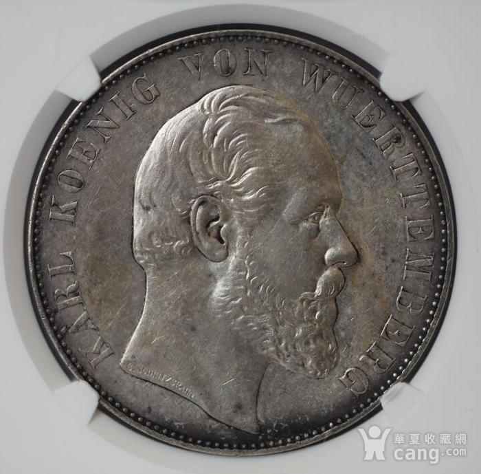 竞华堂出品 1869年德国乌尔姆大教堂2泰勒银币图1