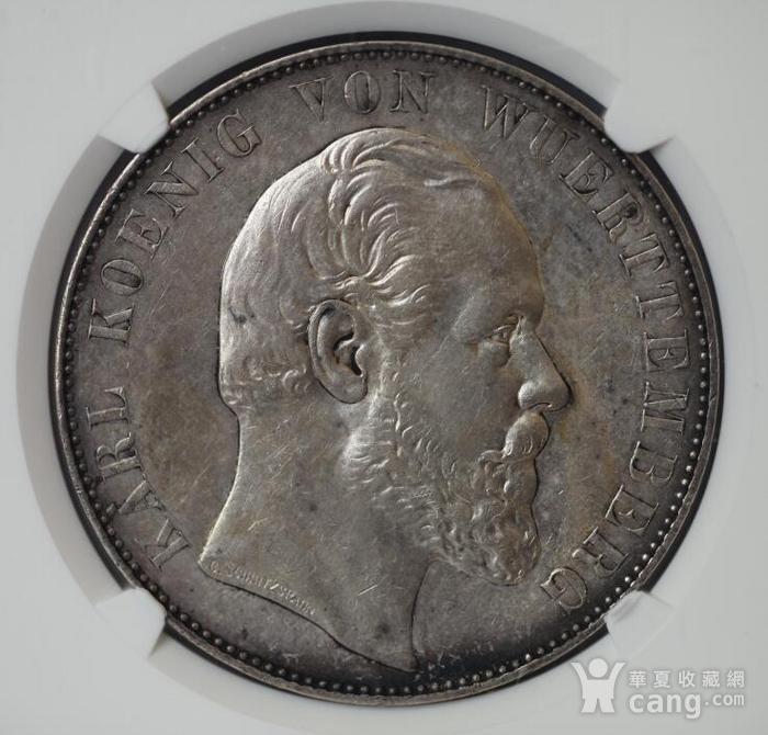 竞华堂出品 1869年德国乌尔姆大教堂2泰勒银币图6