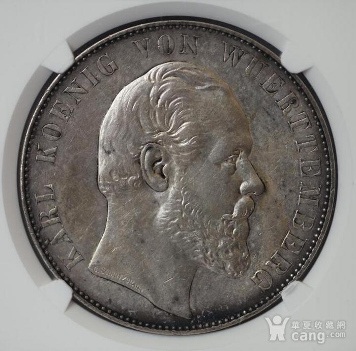 竞华堂出品 1869年德国乌尔姆大教堂2泰勒银币图8