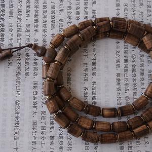 沉香桶珠项链