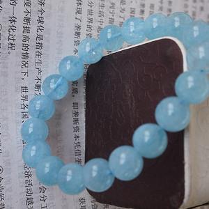 海蓝宝石手链