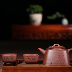 紫韵天成,砂里藏金——《四方禅逸》一壶二杯