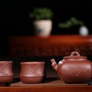 紫韵天成,砂里藏金——《竹韵盎然》一壶二杯