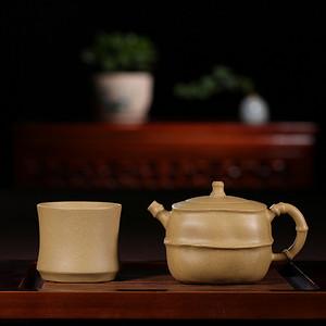 紫韵天成,砂里藏金——《节节高升》一壶一杯套壶。