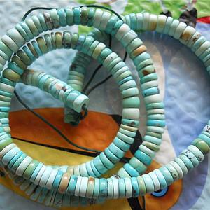 原矿高瓷绿松石项链
