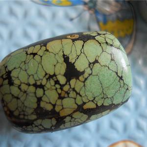 原矿高瓷绿松石桶珠