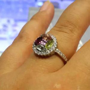 (金牌)碧玺宝石戒指