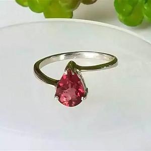 (金牌)红碧玺宝石戒指