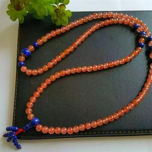 (金牌)南红玛瑙青金石念珠项链手串