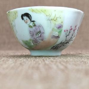 【金牌】民国时期名家(唐子帧)粉彩人物故事茶杯