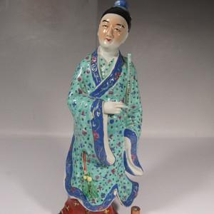 超大民国名家戈益泰造粉彩人物瓷塑