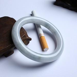 传统清式翡翠圆条手镯 58mm  8HU03