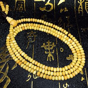 天然珍珠白檀木檀香木算盘珠216佛珠手链!