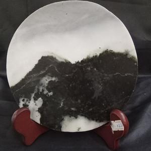 现代翡翠原石天然山水画