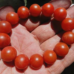 南红保山柿子红手串2