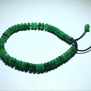 出口创汇 精品 满绿 翡翠 算佩珠 手链 水头 颜色