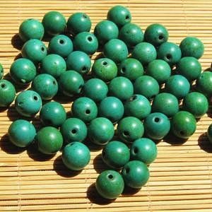 原矿 高瓷 绿松石 珠 52颗