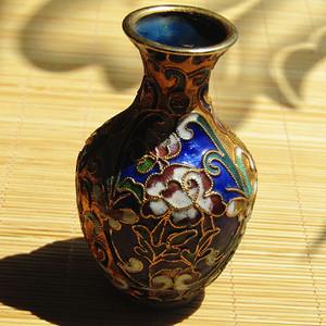 民国掐丝珐琅 铜胎 景泰蓝 花瓶 古朴精美