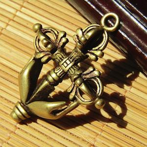 藏传 铜降魔杵 挂件 手工打造