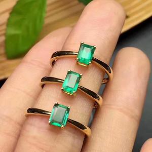 纯天然祖母绿戒指