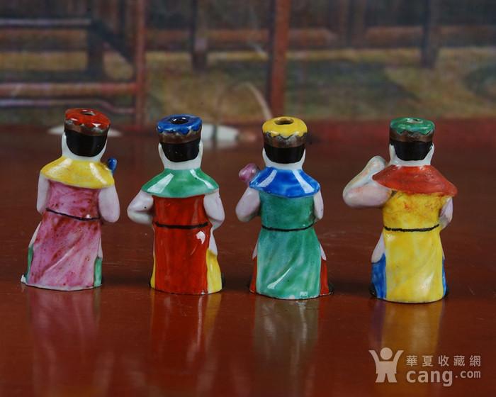景德镇文革老厂瓷器 精品收藏 雕塑瓷厂精品雕塑  四大天王图4