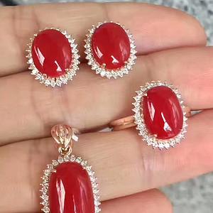 纯天然红珊瑚套装