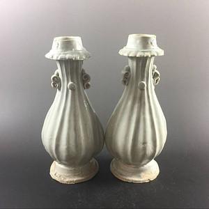 宋 极美品青白釉花瓶一对 之二