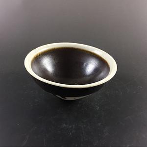 宋 极美品吉州窑白覆轮茶盏