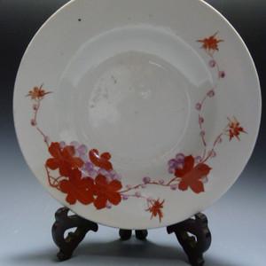 民国花卉盘子