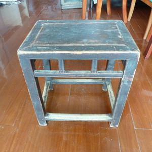 清代榉木骨排凳