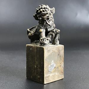 清代铜质狮子精工印章