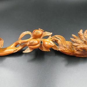 木精 黄杨木雕福绿祷如意