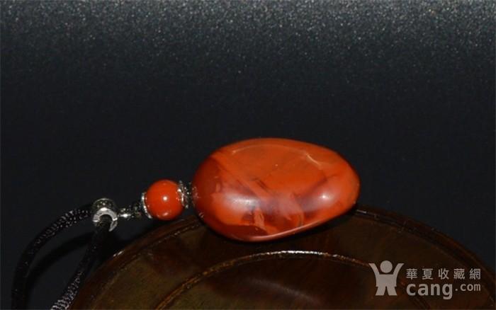 凉山樱桃红南红玛瑙弥勒挂件图4