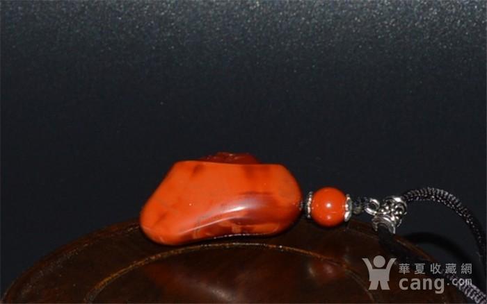 凉山樱桃红南红玛瑙弥勒挂件图3