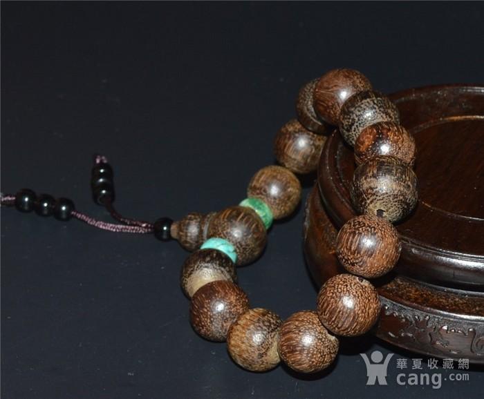 越南奇楠沉香木珠配松石手串图3