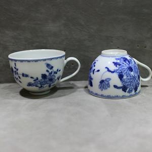 解放后 江西瓷业公司出口创汇小杯一对