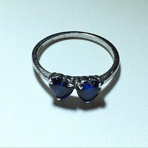 英国回流 蓝宝石 戒指 心形宝石切割面 包浆老厚