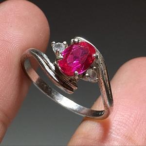 英国回流 卢比来 碧玺 戒指 宝石切割面 火彩不错