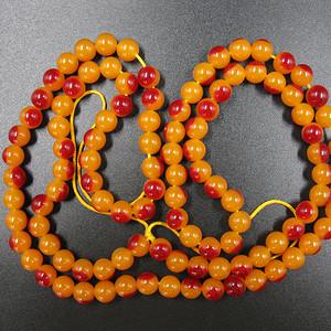 回流红珠串项链