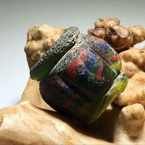 五色 绞丝纹 琉璃瓜棱珠 手工制作 工艺十分