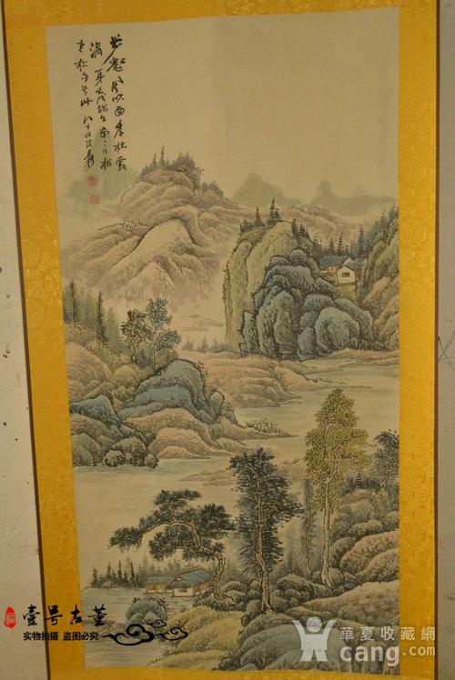 名家名人手绘原稿山水纹原画老字画图1