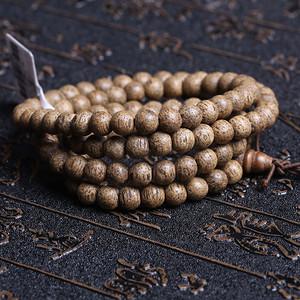 天然越南虎斑沉香108佛珠
