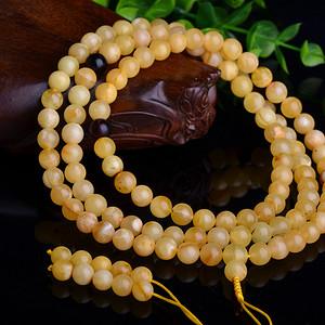 联盟 天然带微杂百花蜜108颗佛珠珠串