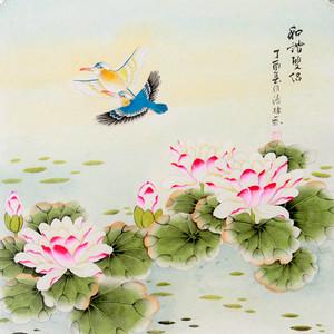 联盟 张清栋花鸟画 和谐双侣