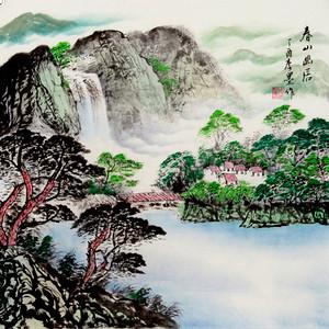 联盟 李墨国画:山水画  春山幽居