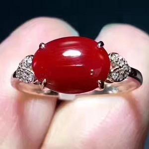 纯天然珊瑚戒指