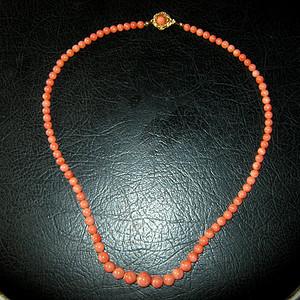 日本回流红珊瑚项链