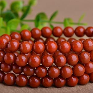联盟 正宗凉山柿子红满色满肉南红108颗佛珠