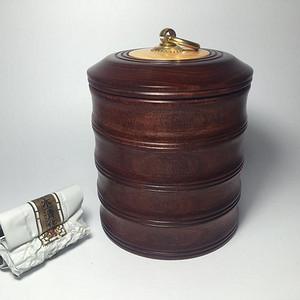 联盟 精品*紫檀竹节茶叶罐