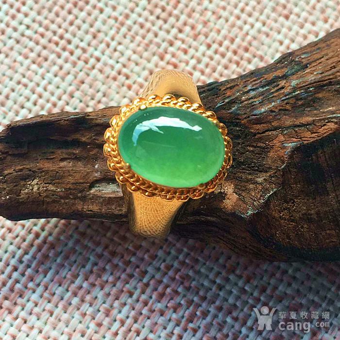 竞猜:天然阳绿翡翠戒指配送证书图1-在线竞猜-图片 图库 价格